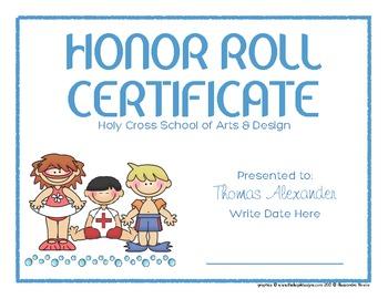 Certificates: 6 Seaside Kids Awards - Modifiable PDFs