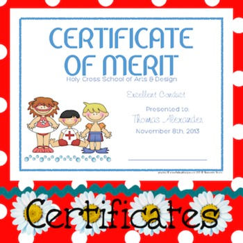 Certificates: 6 Seaside Kids Awards - Modifiable PDFs