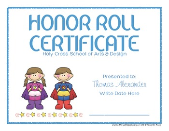 Certificates: 6 Super Kids Awards - Modifiable PDFs