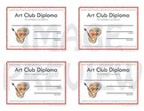 Certificates Art Club Diploma