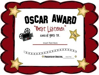 Editable certificates awards hollywood themed by third in hollywood editable certificates awards hollywood themed yadclub