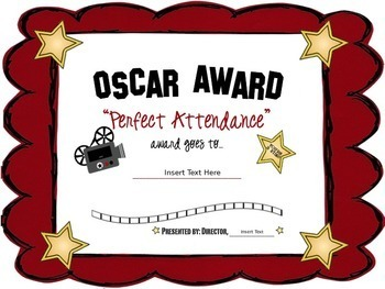 EDITABLE Certificates / Awards (Hollywood Themed)
