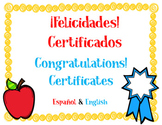 Certificate Awards -  Spanish and English