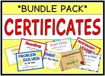 Certificates/ Awards (BUNDLE PACK)