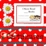 Certificates Book Reading Count