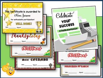 Certificates: Celebrating success!