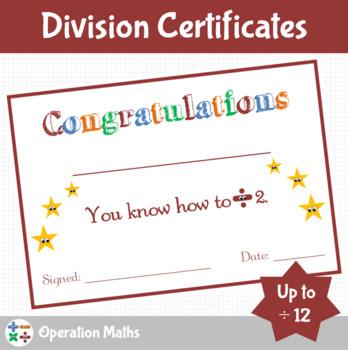 Division Certificates