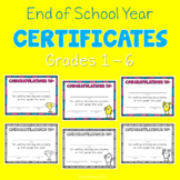 Certificates   End of School Year 2020