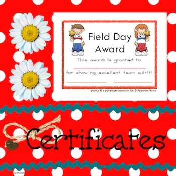 Certificates Field Day