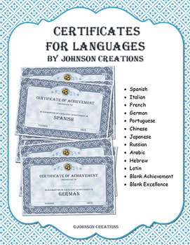 Certificates For Languages