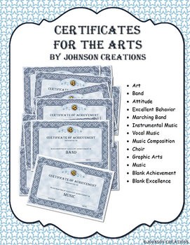 Certificates For The Arts