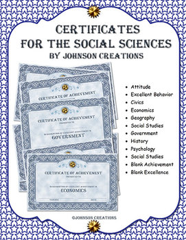 Certificates For The Social Sciences