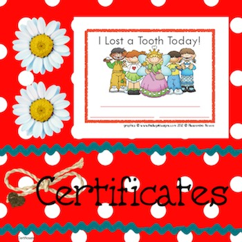 Certificates: I Lost a Tooth Today