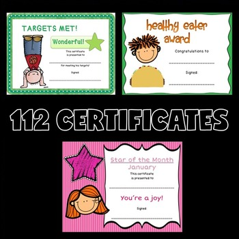 Certificates BUNDLE (Award Certificates for the Whole Year)
