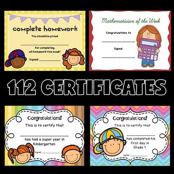 Certificates BUNDLE (Award Certificates)