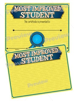 Certificates – Most Improved Awards 2