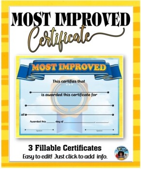 Certificates – Most Improved Awards 4