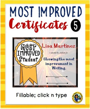 most improved award teaching resources teachers pay teachers
