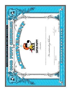 Behavior Certificates . Child Behavioral & Emotional Tools by GOOD PUPPY