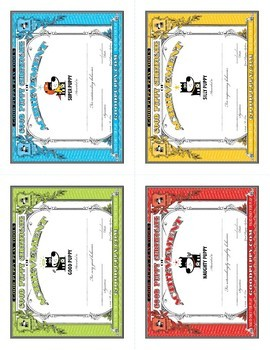 Behavior Certificates Mini . Child Behavioral & Emotional Tools by GOOD PUPPY