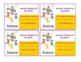 25-Certificates-(Science) Student of Week & Month