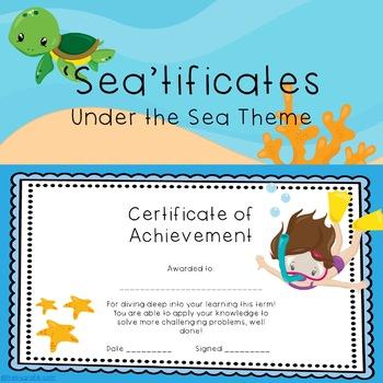 Certificates Sea Theme