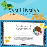 Certificates Sea Theme
