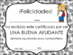 Spanish End of Year Certificates and Awards (editable)