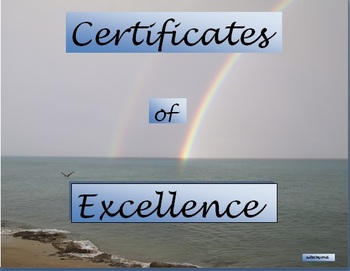 Certificates for Excellence