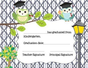 Certificates for Kindergarten Graduation and Moving On Ceremonies