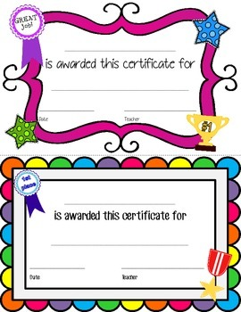 Certificates for LIFE!!