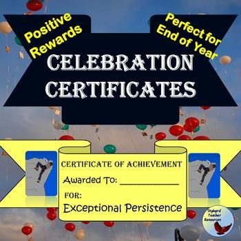 End of Year Reward Certificates