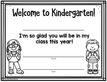 Certificates for the First Day of Kindergarten FREEBIE - Volume 2