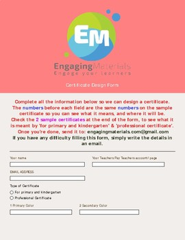 Certificates Specifically for your Classroom