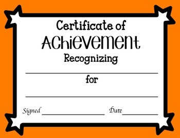 Certificates of Achievement FREEBIE