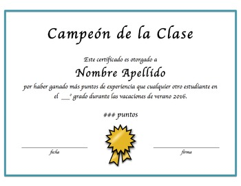 Certificates of Achievement in Spanish - Fully Editable