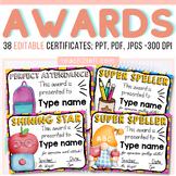Editable Awards Certificates of Appreciation