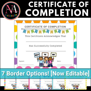 Certificates of Completion, Promotion, or Achievement - For Any Class or Grade