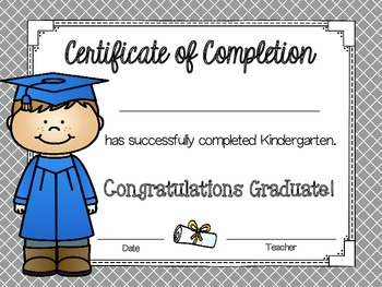 Certificates of Completion and more!
