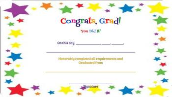 Certificates of Graduation and Achievement