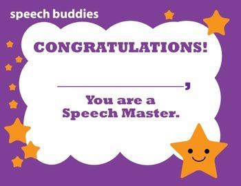 Certificates of Speech Sound Mastery