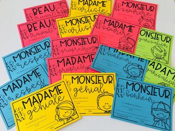 Certificats d'excellence (Français - FRENCH)
