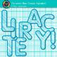 Cerulean Blue Crayon Alphabet Clip Art {Great for Classroom Decor & Resources}