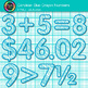 Cerulean Blue Math Numbers Clip Art {Great for Classroom Decor & Resources}