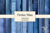 Cerulean Dream Textures Digital Paper