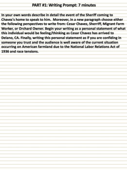 Cesar Chavez (2014) Cloze Video Notes (Video worksheet)