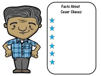 Cesar Chavez Writing Paper | Cesar Chavez Lesson Activity