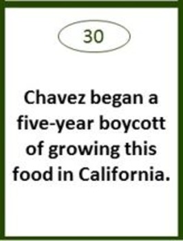 Cesar Chavez Board Game