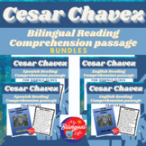 Cesar Chavez Bilingual Reading Comprehension Activity Bundle