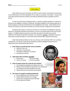 Cesar Chavez Biography (in spanish)